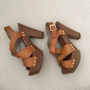 Mossimo Brown Studded Heels